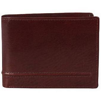Dents Mocca cuir Coin Bill-Fold Wallet - Brown