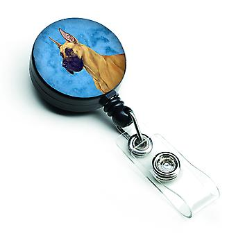 Carolines Treasures  LH9355BUBR Blue Great Dane Retractable Badge Reel