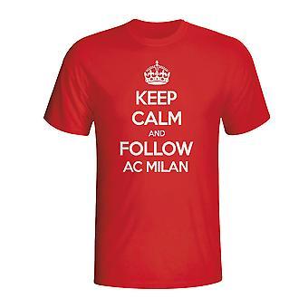Keep Calm And Follow Ac Milan T-shirt (red)