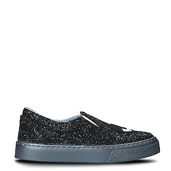 Chiara Ferragni ladies CF1691001 black glitter slip on sneakers