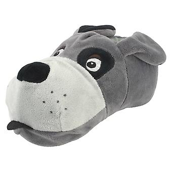 Unisex Junior Spot On Flat Novelty Dog Slippers X2073