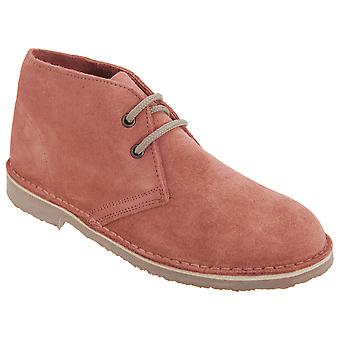 Roamers Womens/Ladies Real Suede Unlined Desert Boots