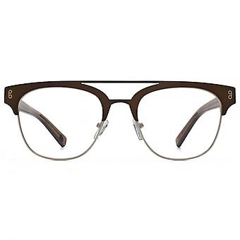 Hook LDN Faraway Stainless Steel Browline Glasses In Gold