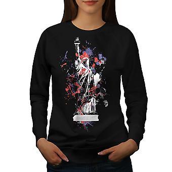 Statuen Liberty New York kvinder BlackSweatshirt | Wellcoda