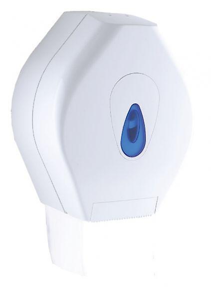 Mini Jumbo 10 Modular Toilet Roll Dispenser; White Plastic