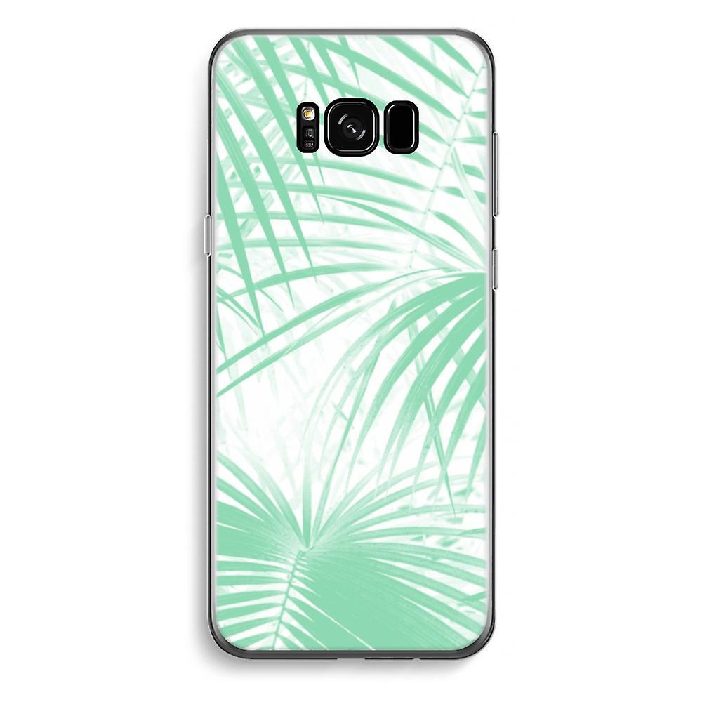 Samsung Galaxy S8 Plus transparentes Gehäuse - Palmblätter