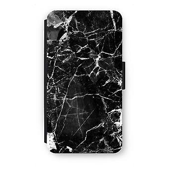 Samsung Galaxy A5 (2015) Flip Case - Schwarz Marmor 2