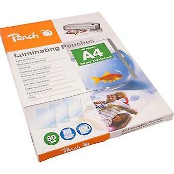 Laminate sheet Peach A4 80 micron glossy