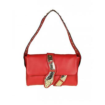 Red Valentino women's PQ2B0747CE7IWC red leather shoulder bag
