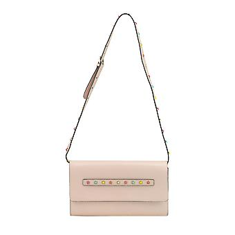 Red Valentino women's MCGLBRE03044E pink leather shoulder bag