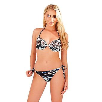 Boutique Ladies Animal Print Full Cup Halterneck Bikini Set