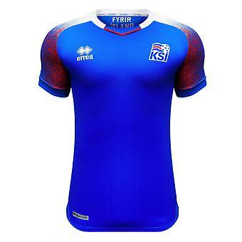 2018-2019 أيسلندا آريا المنزل كرة القدم قميص (الأطفال)