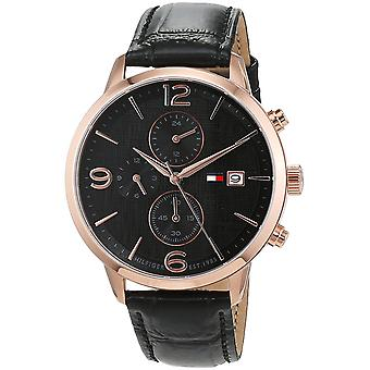 Tommy Hilfiger Leather Chronograph Mens Watch 1710358