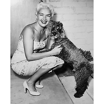 Betty Grable With Her French Poodle Punk Still