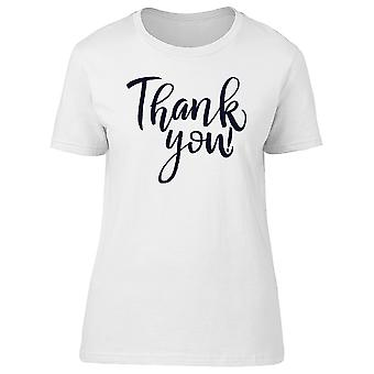 Thank You! Curve Lettering Tee Women's -Image by Shutterstock