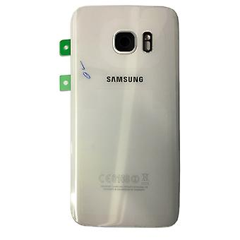 Samsung battery door cover for Galaxy S7 edge G935 G935F + adhesive pad white