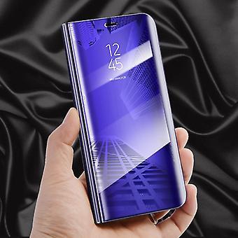 Für Huawei Honor 10 Clear View Spiegel Mirror Smartcover Lila Schutzhülle Cover Etui Tasche Hülle Neu Case Wake UP Funktion