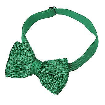 Smaragd grüner Grenadine Seide gestrickt Pre gebundene Fliege