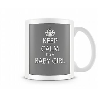 Keep Calm It's A Baby Girl Printed Mug