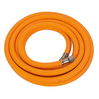 Sealey Ahhc5 Air Hose 5Mtr X �8Mm Hybrid High Visibility With 1/4In Bsp Unions