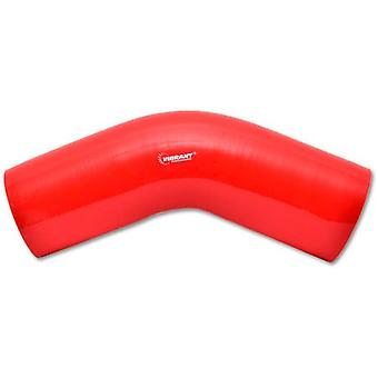 Vibrant 2753R 4 Ply Reinforced Silicone Elbow Connector (Red)