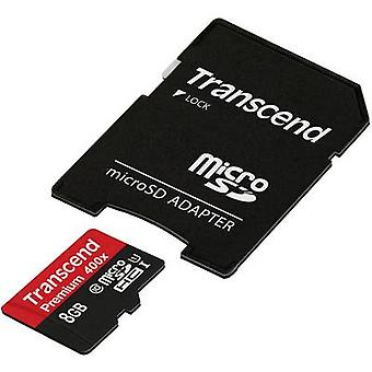 Transcend Premium 400x microSDHC card 8 GB Class 10, UHS-I incl. SD adapter
