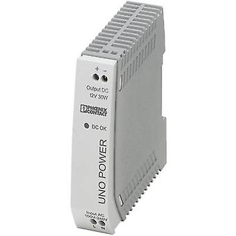 Rail mounted PSU (DIN) Phoenix Contact UNO-PS/1AC/12DC/30W 12 Vdc 2.5 A 30 W 1 x