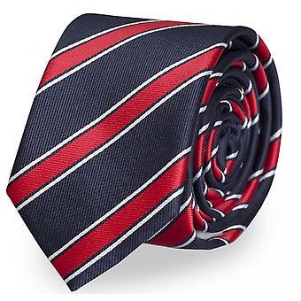 Blue, Fabio Farini white red striped tie, necktie, ties, tie, 8 cm,