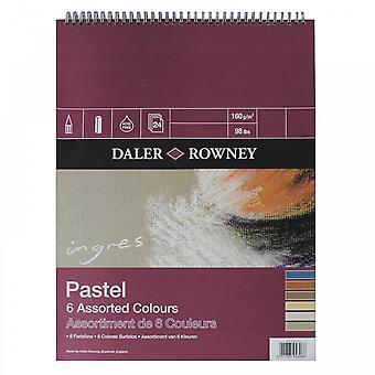 Cojín de Daler Rowney Ingres Pastel 6 colores surtidos espiral 12 X 9