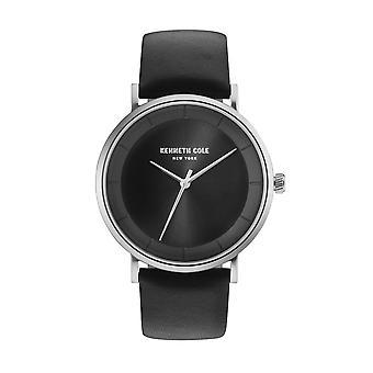 Kenneth Cole New York men's wrist watch analog quartz leather KC50567001