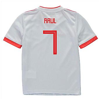 2018-2019 Spagna Away Adidas Mini Kit (Raul 7)