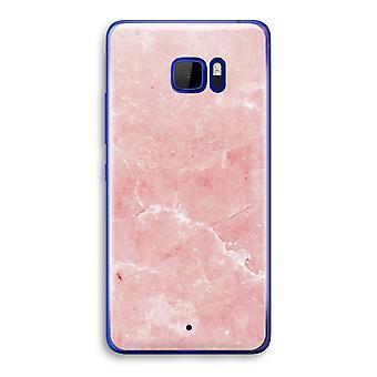 HTC U Ultra Transparent Case (Soft) - Pink Marble
