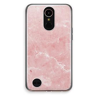 LG K10 (2017) gennemsigtig sag (Soft) - Pink marmor
