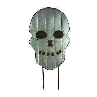 Metall skrämmande skalle ansikte Halloween gården stav gräsmatta dekoration