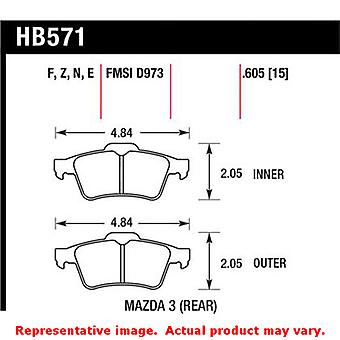 Hawk 'Performance Street' Brake Pads HB571F.605 Fits:MAZDA 2004 - 2005 3  Posit