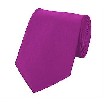 Fabio Farini Schlips Krawatte Krawatten Binder 8cm magenta