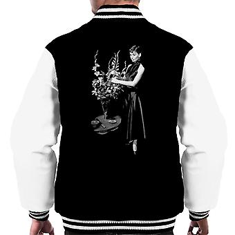 Audrey Hepburn Flowers Men's Varsity Jacket