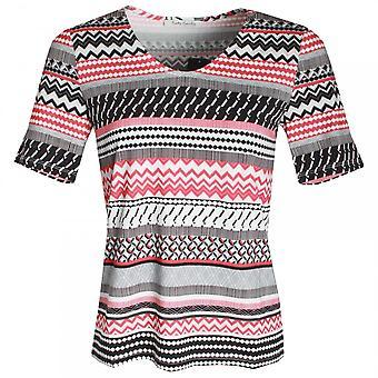 Betty Barclay Aztec Print V Neck T-shirt