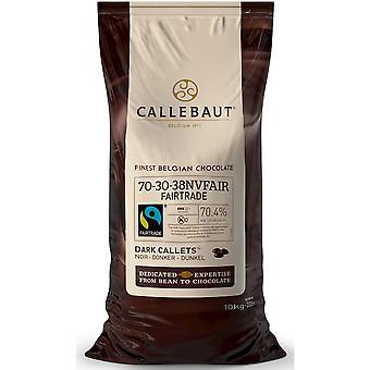 Callebaut Fairtrade dunkle Schokolade Extra Bitter 70 % callets