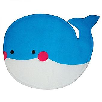 Blue Whale Towelling Bath Mat Kids Baby Soft Non Slip Absorbent Bathroom Rug