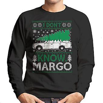 National Lampoon Margo Christmas Knit Pattern Men's Sweatshirt