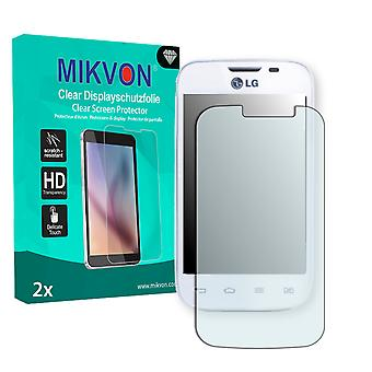 LG L40 D170 Dual Sim Screen Protector - Mikvon Clear (Retail Package with accessories)