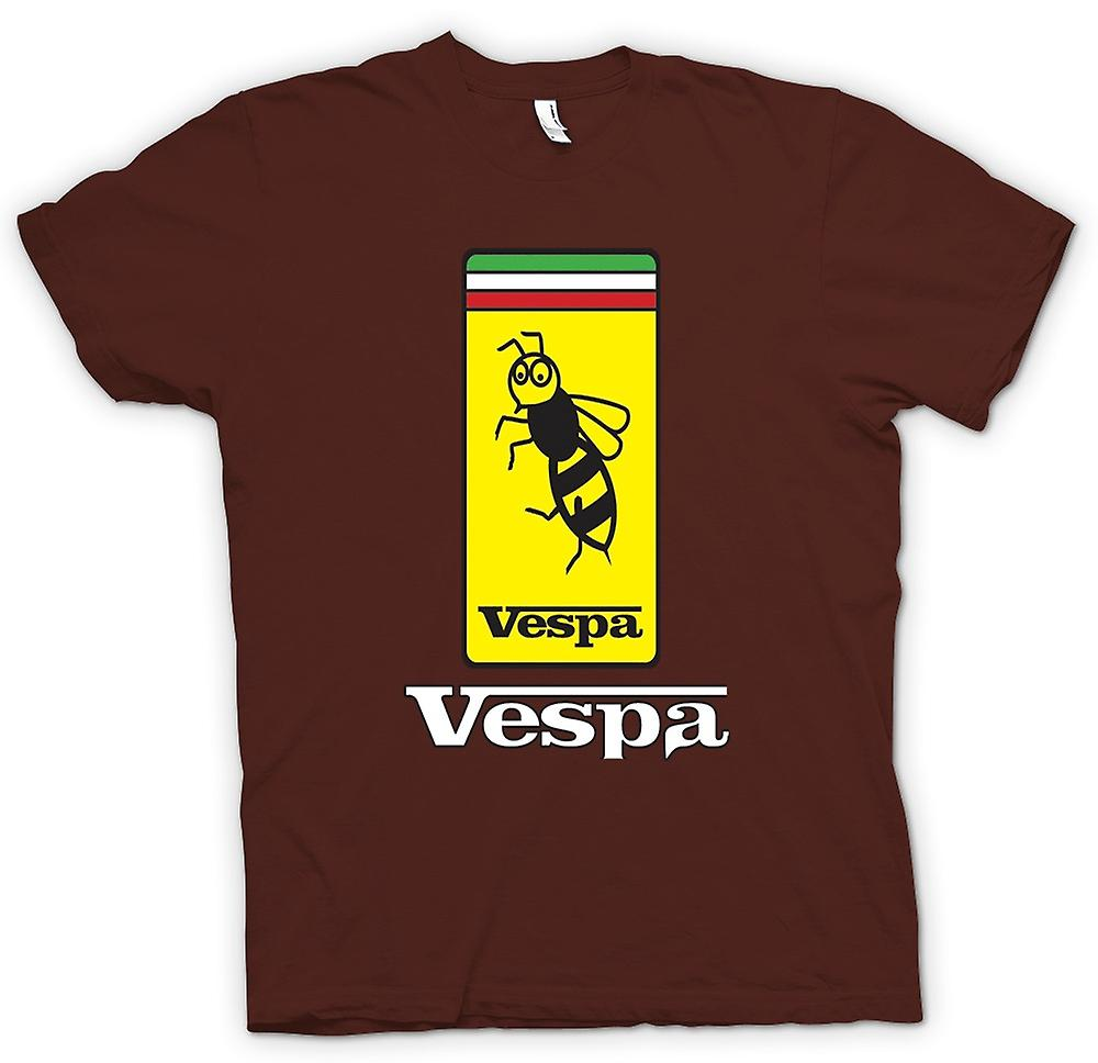 Mens t-shirt-Mod Badge - ape - Vespa Scooter