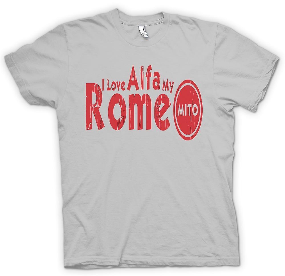 T-shirt des hommes - I Love My Alfa Romeo Mito - passionné de voiture