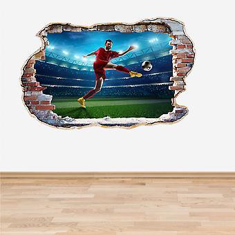 Полноцветный футбол футбол игрок стены стикер стены 3D эффект