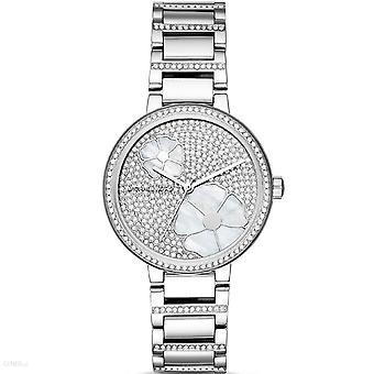 Michael Kors Courtney Pave Crystal Silver Tone Ladies Wrist Watch MK3835