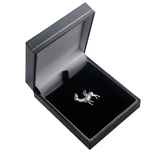 Silver 23x25mm solid Stag Pendant or Charm