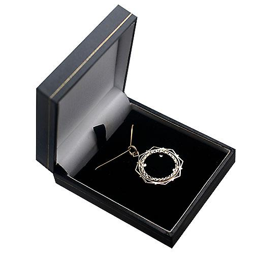 9ct Gold 29mm Full Sovereign mount with a diamond cut Bezel Pendant with a curb Chain 16 inches Only Suitable for Children