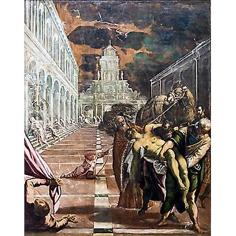 The Stealing of the Dead Body of St Mark,Tintoretto,50x40cm