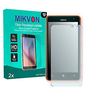 Nokia Lumia 625 LTE Screen Protector - Mikvon Clear (Retail Package with accessories) (reduced foil)